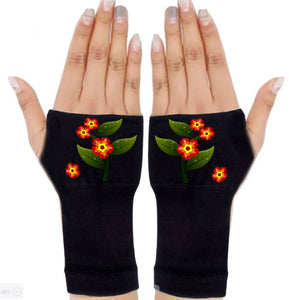 Fingerless Gloves for Arthritis - Arthritis Gloves with Compression - Wrist Wrap - Wrist Support - Garden