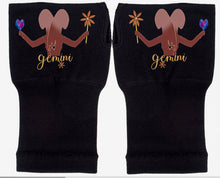 Load image into Gallery viewer, Gemini Zodiac  Fingerless Gloves - Compression Gloves -Gloves Womens - Arthritis Gloves -  Carpal Tunnel Gloves - Wrist Warmer