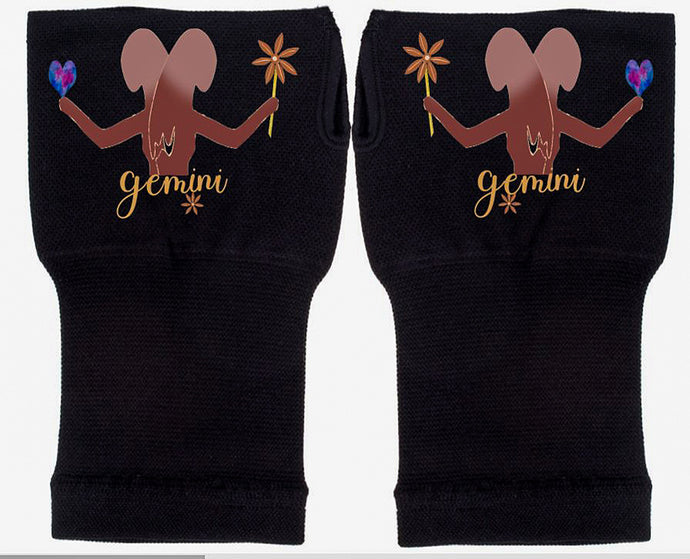 Gemini Zodiac  Fingerless Gloves - Compression Gloves -Gloves Womens - Arthritis Gloves -  Carpal Tunnel Gloves - Wrist Warmer