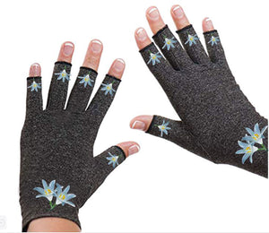Fingerless Gloves for Arthritis - Arthritis Gloves with Compression - Wrist Wrap - Wrist Support - Glacier Flower