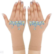 Load image into Gallery viewer, Fingerless Gloves for Arthritis - Arthritis Gloves with Compression - Wrist Wrap - Glacier Flower