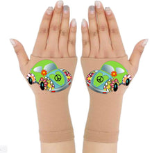 Load image into Gallery viewer, Fingerless Gloves & Wrist Support  Arthritis -  Carpal Tunnel Treatment - Green Beetle
