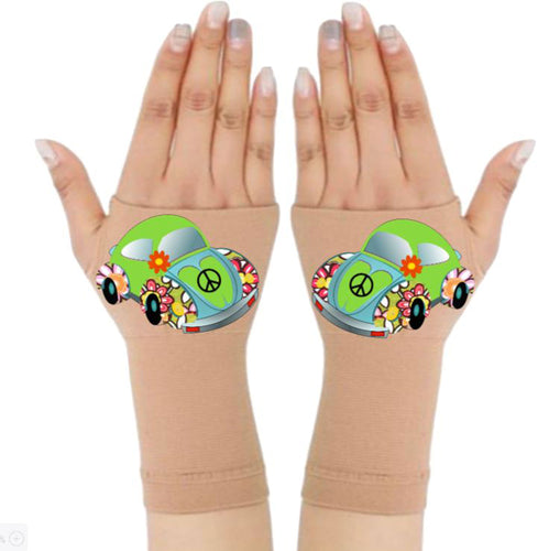 Fingerless Gloves & Wrist Support  Arthritis -  Carpal Tunnel Treatment - Green Beetle