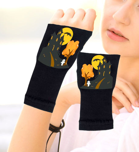 Halloween Arthritis  Gloves -  Wrist Support Carpal Tunnel Relief - Haunted House