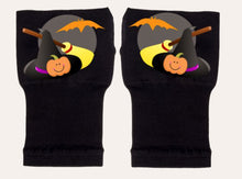 Load image into Gallery viewer, Halloween Arthritis  Gloves -  Wrist Support Carpal Tunnel Relief - Witch Hat