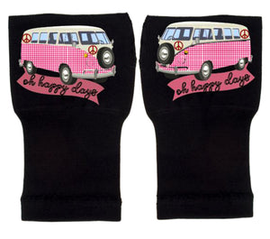 Fingerless Gloves & Wrist Support  Arthritis -  Carpal Tunnel Treatment - Happy Days Pink