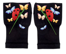 Load image into Gallery viewer, Arthritis  Gloves - Carpal Tunnel Treatment - Wrist Support - Hand Brace - Ladybug & Friends