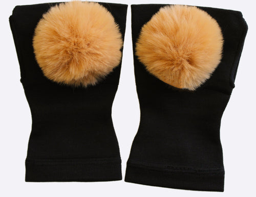Arthritis  Gloves - Carpal Tunnel Treatment - Wrist Support - Hand Brace- Fur Ball Tan