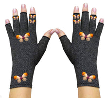 Load image into Gallery viewer, Fingerless Gloves for Arthritis - Arthritis Gloves with Compression - Love Butterfly