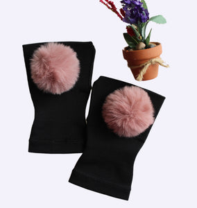 Arthritis  Gloves - Carpal Tunnel Treatment - Wrist Support - Hand Brace - Fur Ball Mauve
