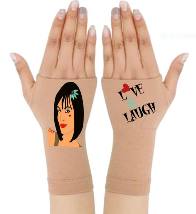 Gloves Arthritis  Hands - Arthritis Compression Gloves - Fingerless Compression Gloves - Love & Laugh