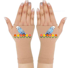 Load image into Gallery viewer, Gloves Arthritis - Arthritis Compression Gloves - Fingerless Compression Gloves - Blue Bird