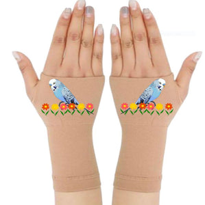 Gloves Arthritis - Arthritis Compression Gloves - Fingerless Compression Gloves - Blue Bird