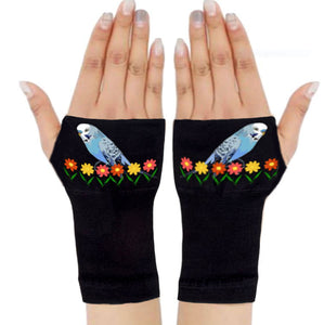 Gloves Arthritis  Hands - Arthritis Compression Gloves - Fingerless Compression Gloves - Blue Bird