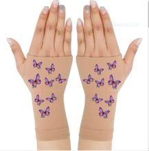Load image into Gallery viewer, Gloves Arthritis  Hands - Arthritis Compression Gloves - Fingerless Compression Gloves - Dainty Purple