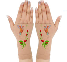 Load image into Gallery viewer, Arthritis  Gloves - Carpal Tunnel Treatment - Wrist Support - Hand Brace - HummingBird & LadyBug