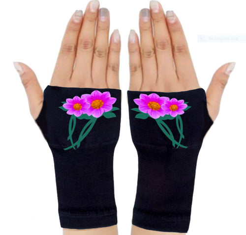 Arthritis  Gloves - Carpal Tunnel Treatment - Wrist Support - Hand Brace - Pink Ribbon