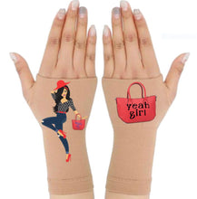 Load image into Gallery viewer, Arthritis  Gloves - Carpal Tunnel Treatment - Wrist Support - Hand Brace - Yeah Girl Pair