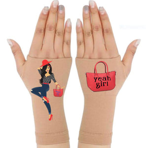 Arthritis  Gloves - Carpal Tunnel Treatment - Wrist Support - Hand Brace - Yeah Girl Pair