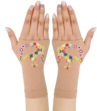 Load image into Gallery viewer, Arthritis  Gloves - Carpal Tunnel Treatment - Wrist Support - Hand Brace - Yellow Multi