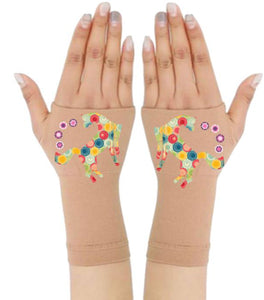 Arthritis  Gloves - Carpal Tunnel Treatment - Wrist Support - Hand Brace - Yellow Multi