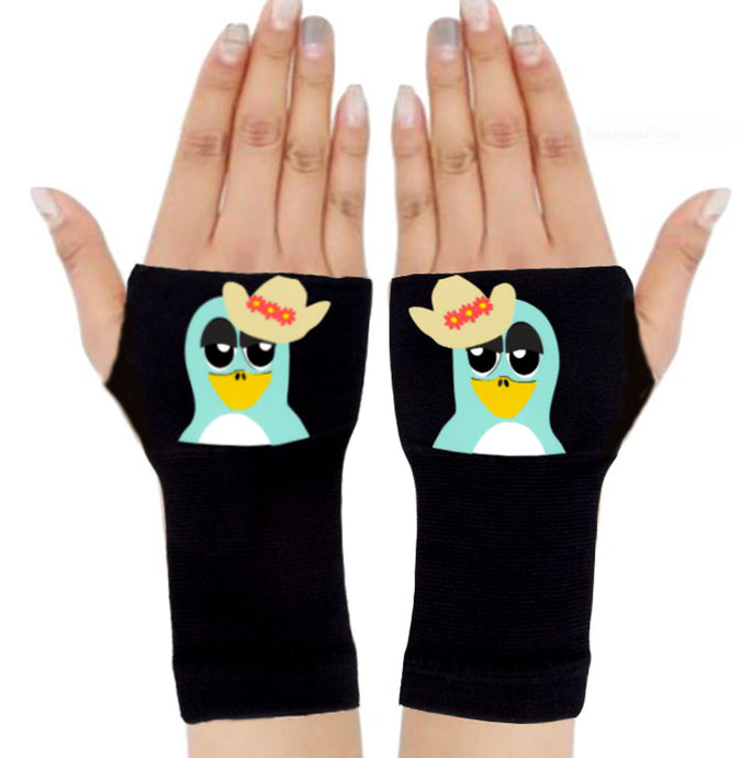 Arthritis  Gloves - Carpal Tunnel Treatment - Wrist Support - Hand Brace - Cowgirl Bird