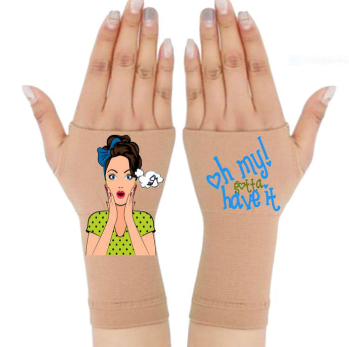Arthritis  Gloves - Carpal Tunnel Treatment - Wrist Support - Hand Brace - Oh My! Pair