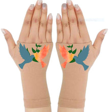 Load image into Gallery viewer, Gloves Arthritis  Hands - Arthritis Compression Gloves - Fingerless Compression Gloves - Two Doves