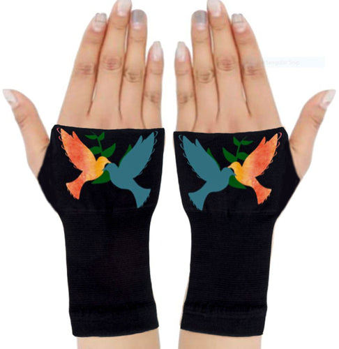Gloves Arthritis  Hands - Arthritis Compression Gloves - Fingerless Compression Gloves - Two Doves