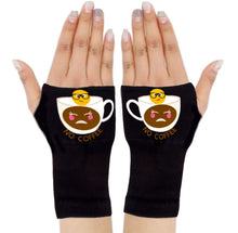 Load image into Gallery viewer, Gloves Arthritis  Hands - Arthritis Compression Gloves - Fingerless Compression Gloves - No Coffee Emoji