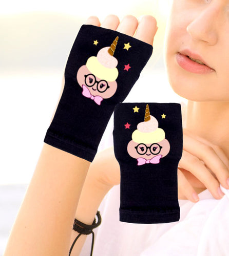 Gloves Arthritis  Hands - Arthritis Compression Gloves - Fingerless Compression Gloves - Poop Unicorn Tan