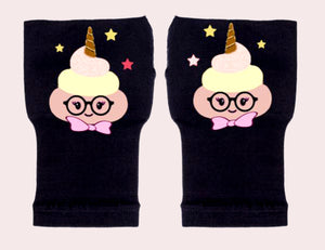 Arthritis  Gloves - Carpal Tunnel Treatment - Wrist Support - Hand Brace - Poop Unicorn Yellow