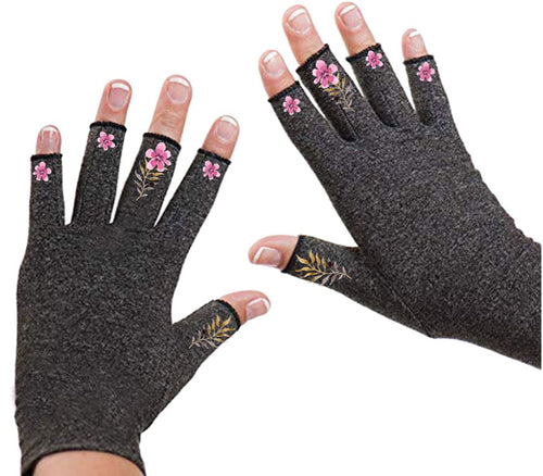 Fingerless Gloves - Arthritis Gloves -Wrist Warmers - Mittens - Stocking Stuffer - Carpal Tunnel Relief - Wrist Support - Friendship