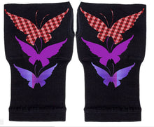 Load image into Gallery viewer, Fingerless Gloves - Arhritis Gloves -  Fingerless Mittens- Wrist Warmer- Gloves Women - Colorful Fingerless Gloves - Fly