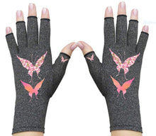 Load image into Gallery viewer, Fingerless Gloves - Arthritis Gloves -Wrist Warmers - Mittens - Carpal Tunnel Relief - Wrist Support - I Believe