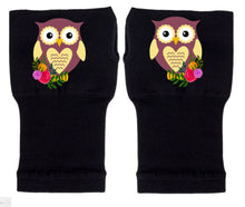 Load image into Gallery viewer, Fingerless Gloves - Arthritis Gloves -Wrist Warmers - Mittens - Stocking Stuffer - CarpalTunnel Relief - Ms. Owl