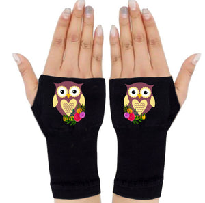 Fingerless Gloves - Arthritis Gloves -Wrist Warmers - Mittens - Stocking Stuffer - CarpalTunnel Relief - Ms. Owl