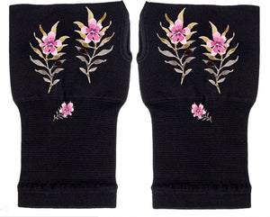 Fingerless Gloves Women Arthritis Gloves - Carpal Tunnel Gloves - Wrist Wraps Compression Gloves - Wild Flower