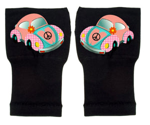 Fingerless Gloves & Wrist Support  Arthritis -  Carpal Tunnel Treatment - Pink Beetle