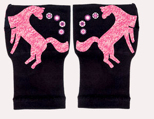 Gloves Arthritis  Hands - Arthritis Compression Gloves - Fingerless Compression Gloves - Pink Unicorn