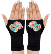 Load image into Gallery viewer, Fingerless Gloves & Wrist Support  Arthritis -  Carpal Tunnel Treatment - Pink Beetle