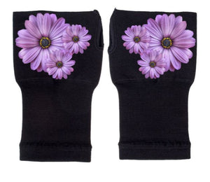 Arthritis Gloves - Carpal Tunnel Treatment - Wrist Support - Hand Brace - Purple Daisies