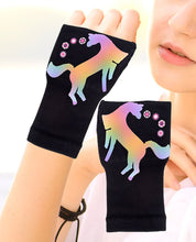 Load image into Gallery viewer, Arthritis  Gloves - Carpal Tunnel Treatment - Wrist Support - Hand Brace -Rainbow Unicorn