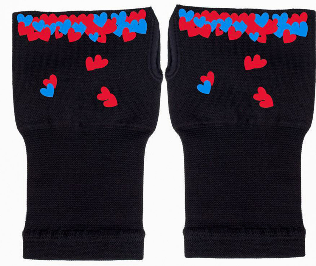 Fingerless Gloves - Arhritis Gloves -  Fingerless Mittens- Wrist Warmer- Gloves Women - Colorful Fingerless Gloves - Hearts