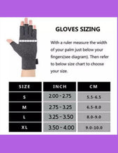 Load image into Gallery viewer, Fingerless Gloves for Arthritis - Arthritis Gloves with Compression - Wrist Wrap - Wrist Support - Glacier Flower