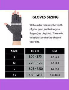 Fingerless Gloves for Arthritis - Arthritis Gloves with Compression - Blue Butterfly