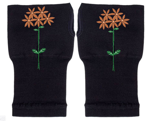 Fingerless Gloves - Arhritis Gloves -  Fingerless Mittens- Wrist Warmer- Gloves Women - Starburst