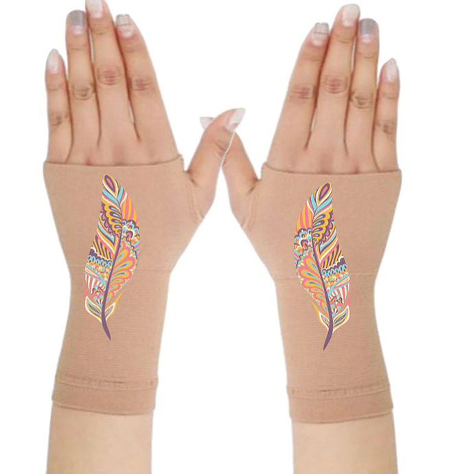 Fingerless Gloves Women Arthritis Gloves - Carpal Tunnel Gloves - Crafter's Gloves  Compression Gloves -Tranquil