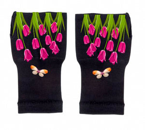 Gloves Arthritis  Hands - Arthritis Compression Gloves - Fingerless Compression Gloves - Secret Garden