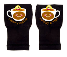 Load image into Gallery viewer, Arthritis  Gloves - Carpal Tunnel Treatment - Wrist Support - Hand Brace - Yummy  Coffee Emoji